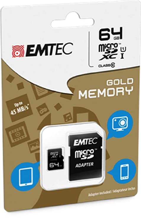 Amazon.com: Emtec 64 GB Class 10 Mini Jumbo Ultra microSDXC ...
