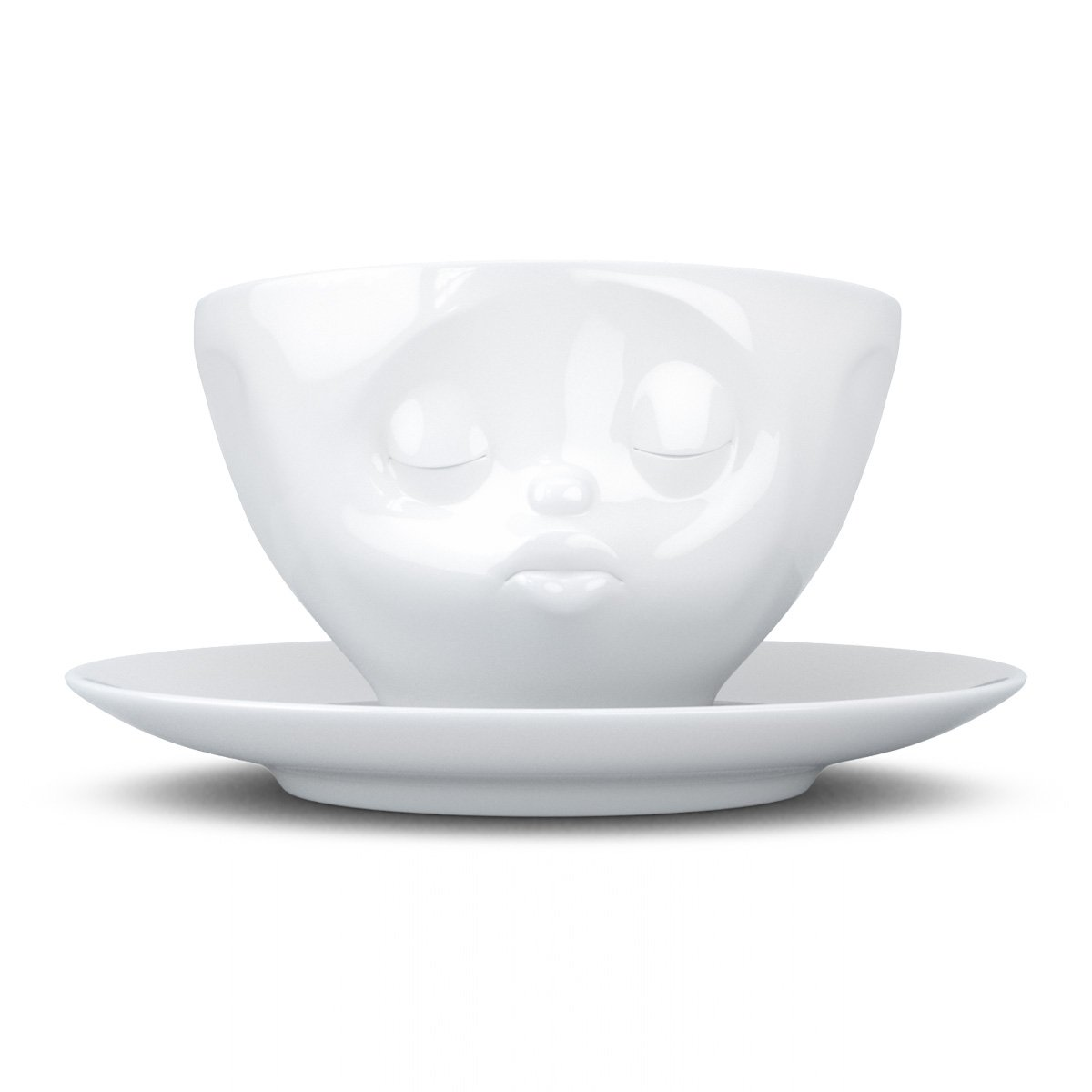 Fiftyeight Coffee Cup With Saucer Kissing Design White T014201