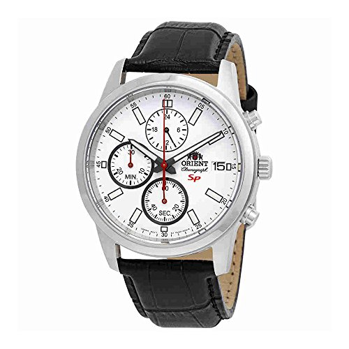Orient Sporty Chronograph White Dial Mens Watch FKU00006W by Orient