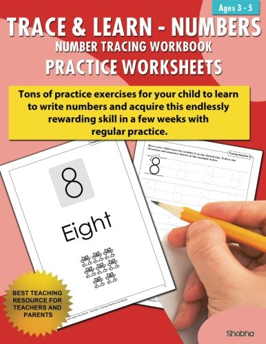 Trace & Learn Numbers Tracing Workbook Practice Worksheets: Daily ...