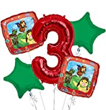 Wonder Pets Balloon Bouquet 3rd Birthday 5 pcs - Party Supplies