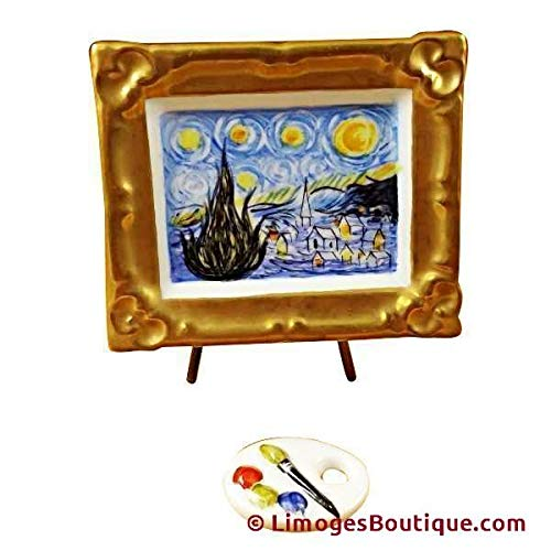 French Limoges Box - French Limoges Boxes Boutique STARY STARY NIGHT Van Gogh - LIMOGES PORCELAIN FIGURINE BOXES AUTHENTIC IMPORTS
