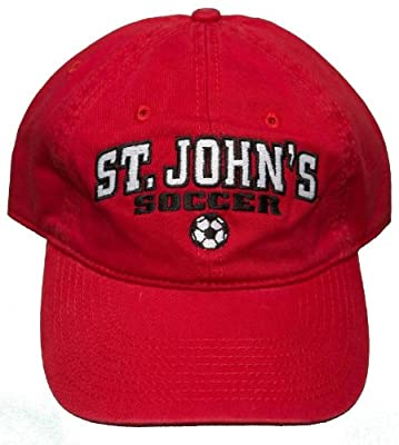 NEW! St. John's University Soccer Red Storm Buckle Back Hat 3D Embroidered Cap from The Game Headwear
