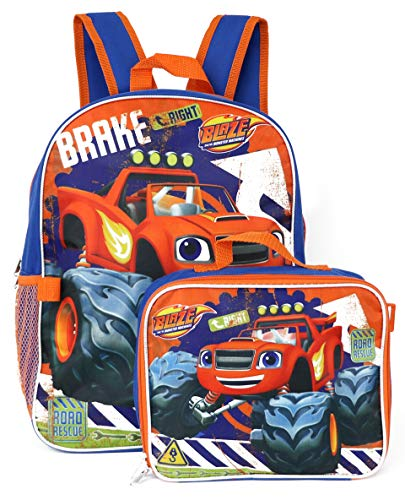 Blaze and the Monster Machines Backpack with Insulated Lunchbox - blue/multi,