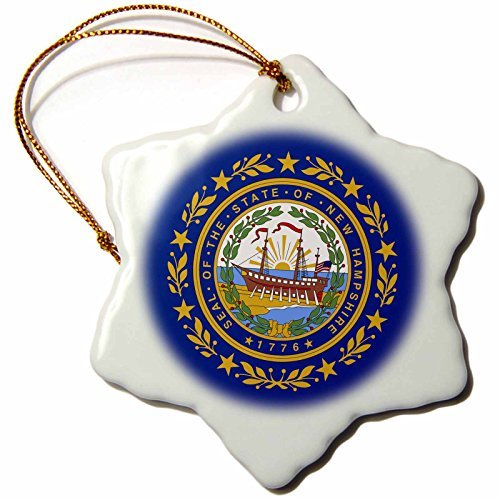 Christmas Ornament Sandy Mertens New Hampshire - State