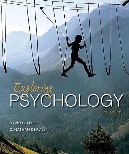 amazon com exploring psychology 9781464154072 david g myers c rh amazon com Myers Psychology Chapter 8 Review Learning Psychology David Myers