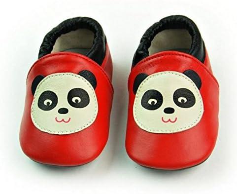 VASHCAME-Chaussures B/éb/é Cuir Souple Chaussons Premiers Pas Respirant pour Gar/çon Fille Nourrisson Efant Grise /Étoile Taille S:0-6 Mois