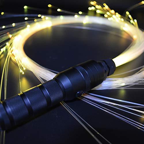 LED Fiber Optic Whip-360°Swivel Super Bright Light Up Rave Toy EDM Flow Dance Festival