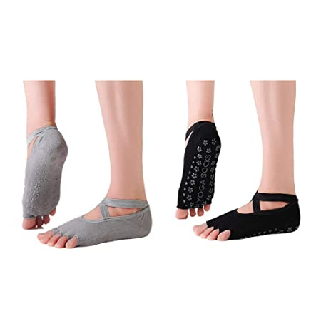 XIAXIACP Calcetines de Yoga, Calcetines de Ballet Medias de ...