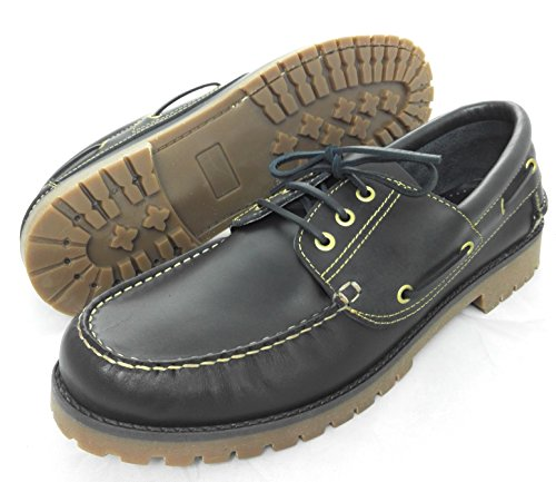 Nautical Leather Shoes For Gentleman Flexible Rubber Sole 100% Large Size: XXL From 11 To 15 Navy Blue N9SshgONpX