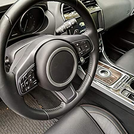 Aluminiumlegierung Lenkrad Ring Aufkleber f/ür Jaguar XF XE E-PACE F-PACE F-TYPE Blue
