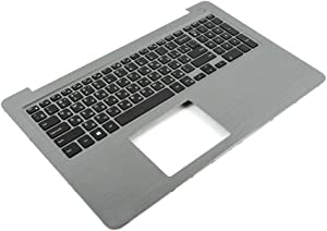 GAOCHENG Laptop Palmrest for DELL Inspiron 15 5565 5567 P66F 0PT1NY PT1NY Gray with Russia RU Backlit Keyboard Upper case New