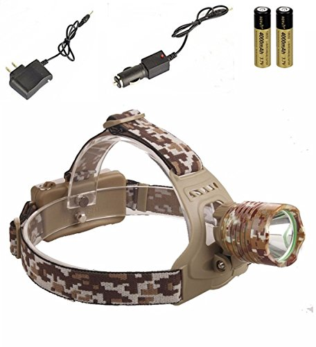 - Optimum Popular 3-Mode LED 3000Lm Headlamp Headlight Waterproof Bike Flashlight Color Camouflage with Battery Car Charger