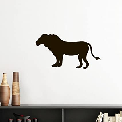 Amazon Com Black Lion Animal Portrayal Silhouette Removable Wall