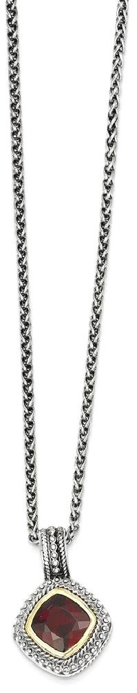 ICE CARATS 925 Sterling Silver 14k Red Garnet Chain Necklace Gemstone Fine Jewelry Gift Set For Women Heart