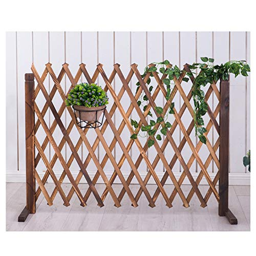 JIANFEI-weilan Garden Fence Screen Flower Bed Edge Plant Climbing Frame Foldable Carbonization,2 Colours, 3 Sizes (Color : Brown, Size : 115x160cm)
