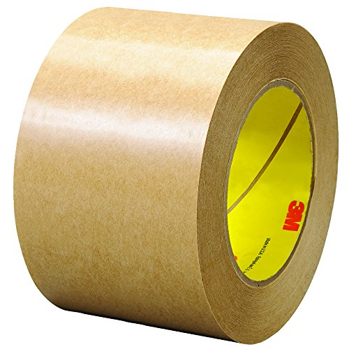 3M T9684651PK Clear #465 Adhesive Transfer Tape, Hand Rolls, 3