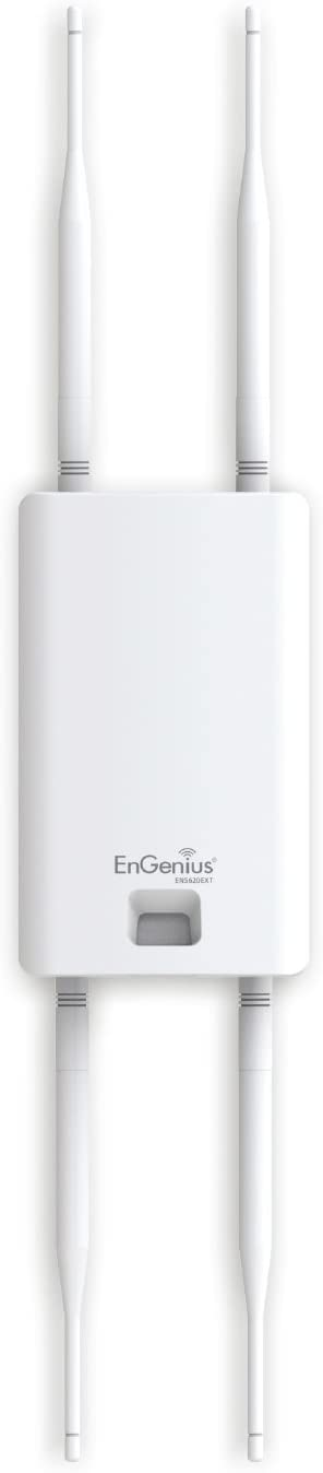EnGenius 802.11ac Wave 2 2x2 Dual Band, high-powered, Outdoor wireless AP with external detachable antenna, 27dBm, 24V PoE, quad-core CPU, MU-MIMO, Beamforming, IP55 (ENS620EXT)