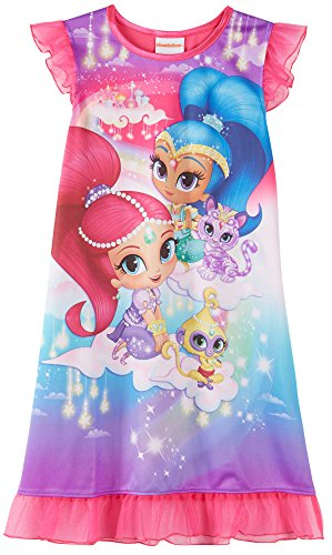 Fire Monkey Costume (Nick Jr Shimmer And Shine and Pets Nightgown for Little Girls (8))