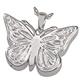 Memorial Gallery MG-3288s Perfect Filigree Butterfly Sterling Silver Cremation Pet Jewelry