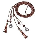 WUAI Women Fashion Folk-Custom Tassel Braided