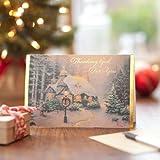 Thomas Kinkade – Stonehearth Hutch - 18 KJV Christmas Boxed Cards