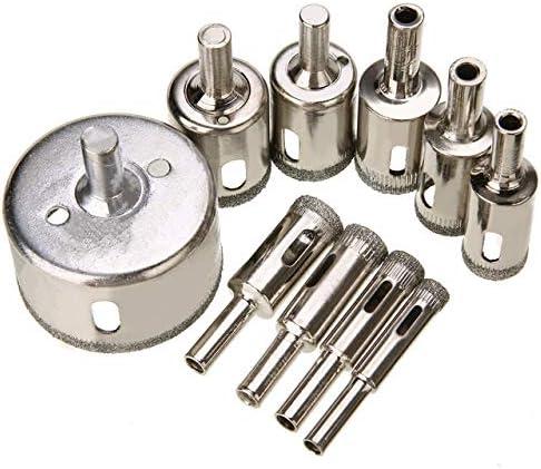 herramienta de perforaci/ón para mamposter/ía PQZATX Juego de 10 brocas con revestimiento de diamante para sierra de corona de granito y granito