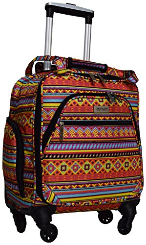 Chocolate New York Spinner Under Seater Luggage, 18 Inches - Colorful Orange (753)