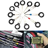 Refaxi 11PC Car Terminal Removal Tool Kit Wiring Connector Extractor Puller Release Pin