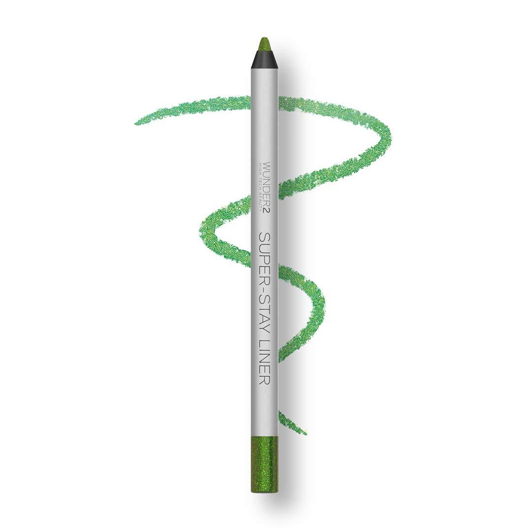 WUNDER2 SUPER-STAY LINER Long-Lasting & Waterproof Colored Eyeliner,Glitter Green Apple , 1.2 gram
