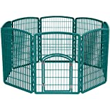 IRIS Exercise 8 Panel Pen Panel Pet Playpen with Door...