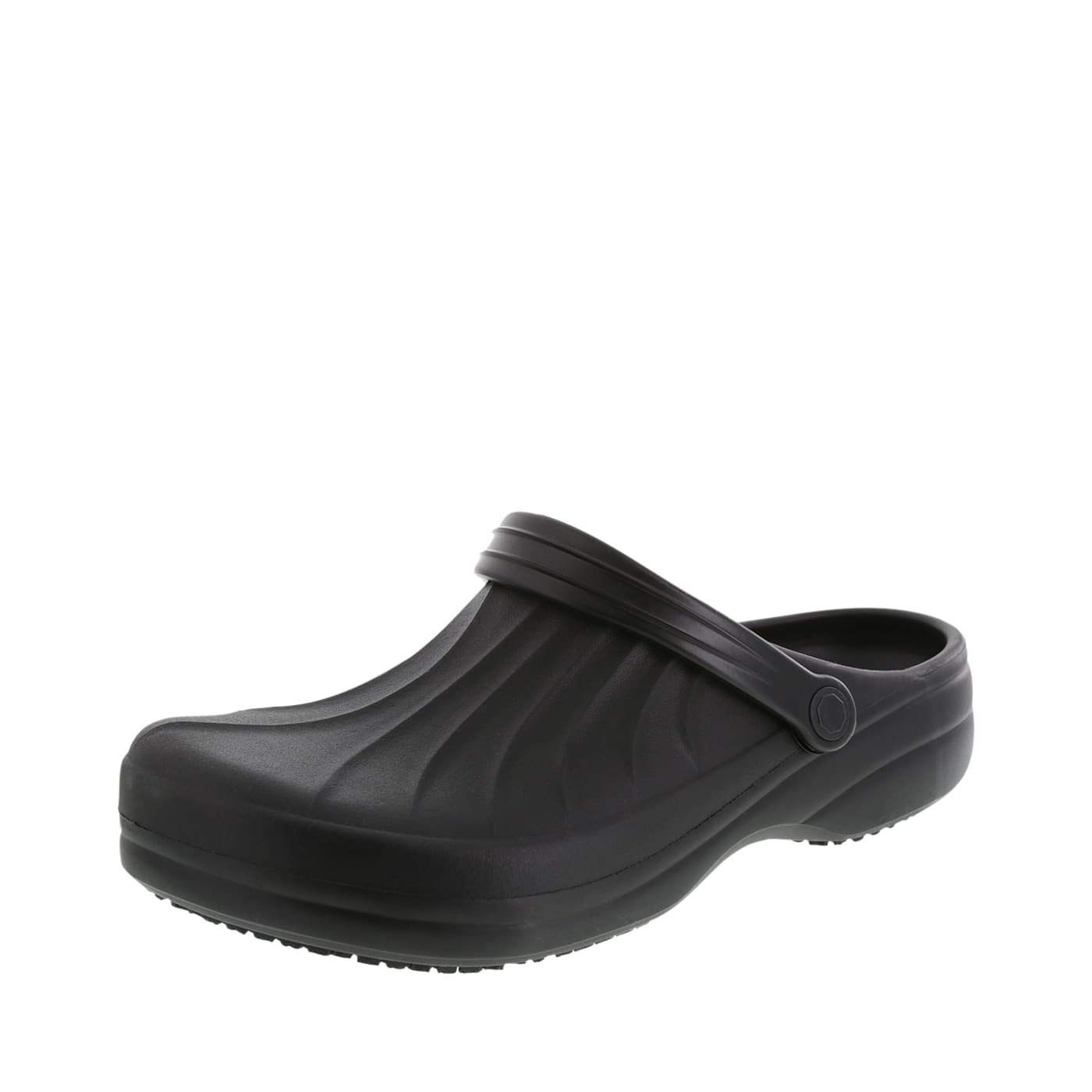 safeTstep Slip Resistant Men's Black Men's Complete Clog 10 Regular by safeTstep