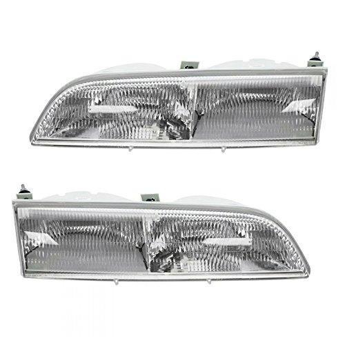 Headlights Headlamps Left & Right Pair Set for 89-93 Ford - Ford Thunderbird Right Headlight