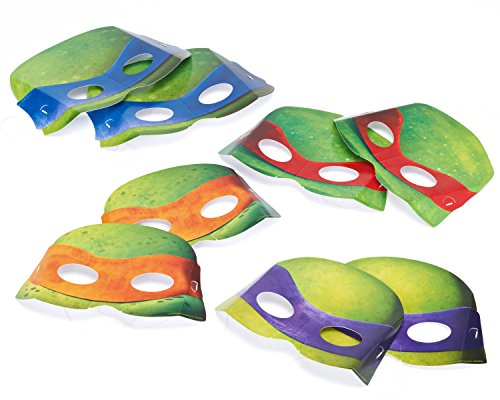 Teenage Mutant Ninja Turtles Paper Masks, 8-Count