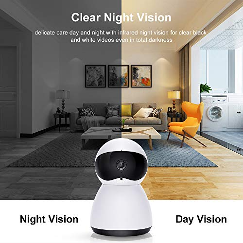 Wireless Camera Baby Home Security Monitor 1080P Dome IP Cameras Surveillance System with Motion Detection, Two-Way Audio, PIR Night Vision Mode, Alert Information