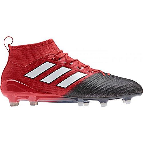 Adidas Mens Asso 17.1 Primeknit Fg Rosso / Bianco / Core Scarpe Nere