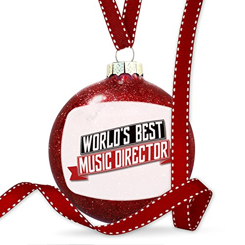 NEONBLOND Christmas Decoration Worlds Best Music Director - Music Worlds Director Best