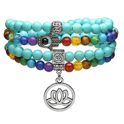 Jovivi 108 Mala Prayer Beads Bracelet Necklace,...