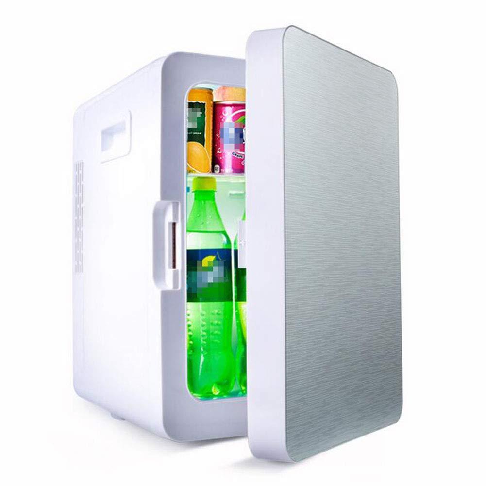 GJLR Car Refrigerator 20L Liter Student Dormitory Mini Refrigerator Car Home Dual-use Refrigerator,Silver