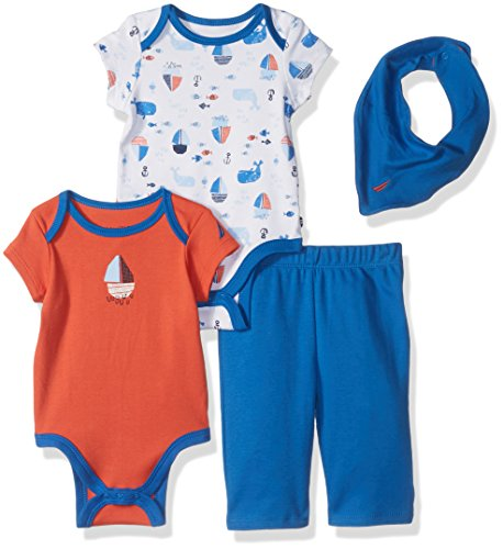 nautica-baby-boys-four-piece-knit-set-with-hanky-and-onesie-orange-3-6-months