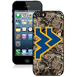 Fashion Custom Designed Cover Case For iPhone 5S Phone Case With NCAA Big 12 Conference Big12 Football West Virginia Mountaineers 5 Protective Cell Phone Hardshell Cover Case for Iphone 5 5s Black