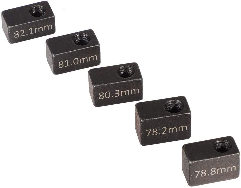 Gauge Blocks And knurled Handles-Engine Idle Speed Adjustment Tool(Total Of Six Pieces And One Suit):For 3350 Detroit Diesel Engine Series Such As: J-35637-A J-1853J-42749J-42665J-39697