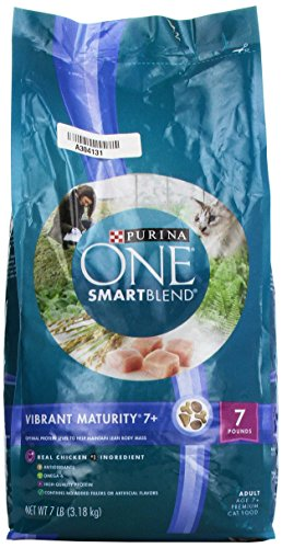 Purina ONE Vibrant Maturity 7 + Senior Cat Food, 7 lbs.