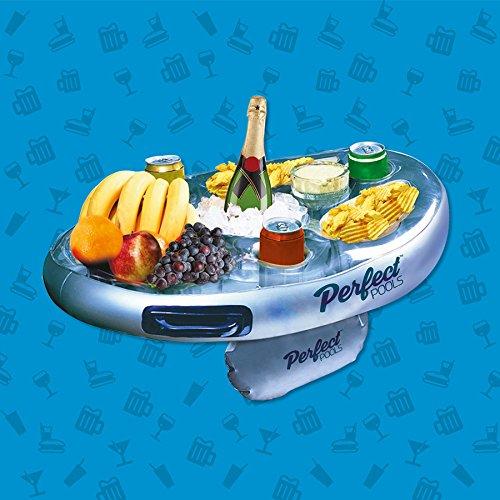 Bandeja para piscina, lateral, inflable, flotante, para alimentos, bebidas, aperitivos: Amazon.es: Hogar
