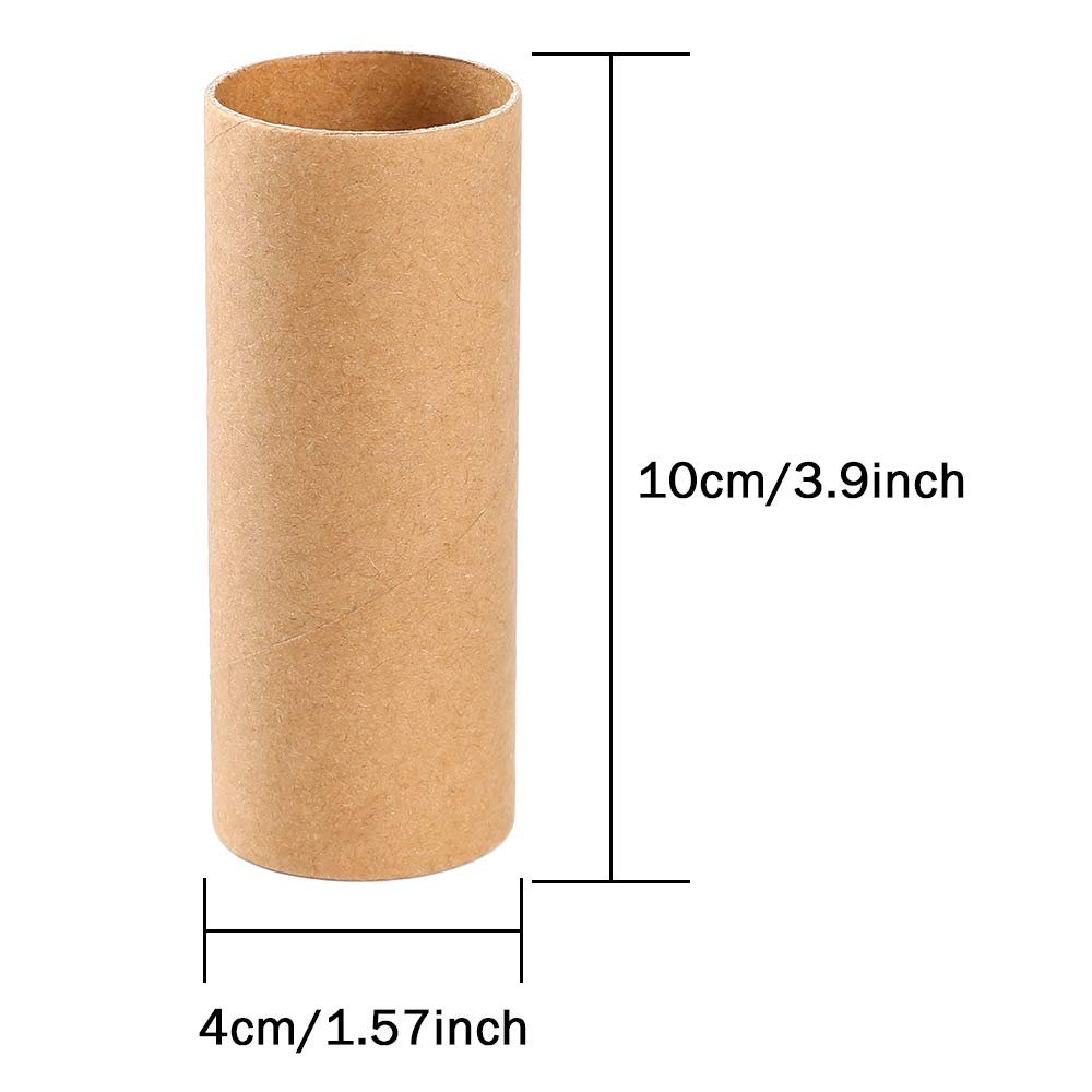Sntieecr 30 Pack 3.9 Inches Sturdy Craft Rolls Cardboard Tubes for DIY Creative Handmade Projects