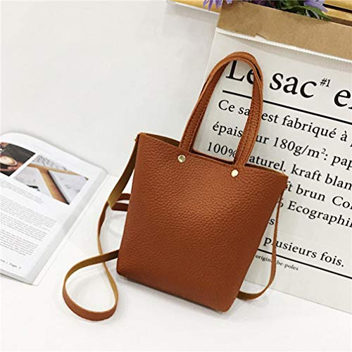 Shoulder Handbag Corssbody Bags Canvas Ladies Brown Pure Women Color Bag Bags Shoulder Bagag Xinantime Fashion Messenger Tote Clearance Leather Sale With Zd7xqwSp