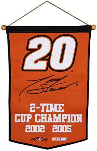 Stewart Wool - Tony Stewart Wool Championship Banner - Fanatics Authentic Certified - NASCAR Track Plaques and Collages