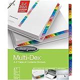 Wilson Jones MultiDex Index Dividers, A to Z, 26 Tabs per Set, Letter Size, Multi-Color (W90203B)