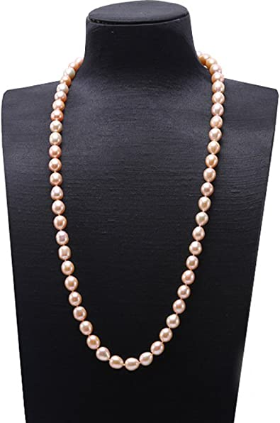 """60/"""" 10-11mm White Off Round FreshWater Pearl Necklace Fashion Jewelry U"""