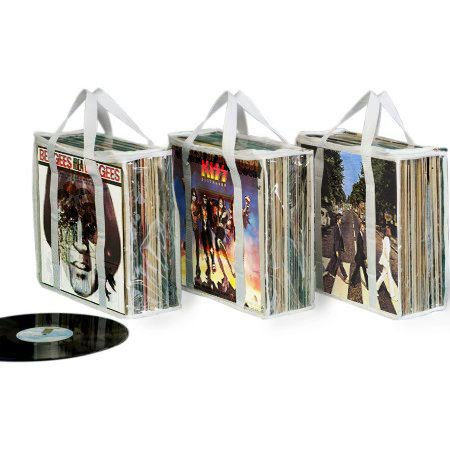 Record Case Holds (A SET OF 3 RECORD WHITE ALBUM STORAGE CASES - Each Case Hold 28 Standard Vinyl Records Or Covers)
